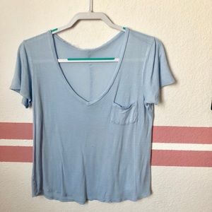 Periwinkle V-neck t-shirt